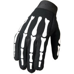 Hot Leathers Skeleton Mechanics Gloves Size Small GVM2007S $17.96