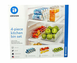 iDesign Kitchen Bin Set Clear 4 Pieces $29.99