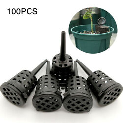 100 Pcs pack Portable With Lid Root Aquarium Nursery Pots Fertilizer Baskets. $11.41