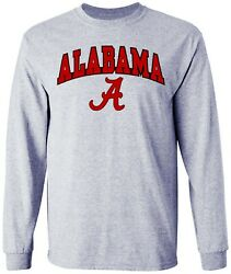 Alabama Shirt T Shirt University Crimson Tide Long Sleeve College Clothing