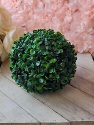 7 Inch Boxwood Ball Outdoor Indoor Artificial Plant Faux Topiary Ball $10.88