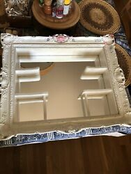 Vintage Wall Shadow Box Display Mirror $60.00