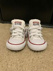 Converse All Star Toddler 4 Medium White Low Top Fabric $14.00