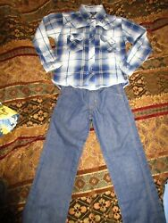 BOYS size 6 7 DRESS CLOTHES LOT 7pc button up dress shirts with jeans $21.00