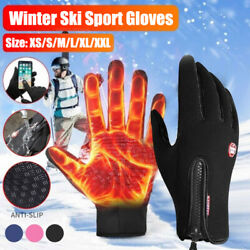 Winter Thermal Touch Screen Warm Windproof Waterproof Gloves for Men and Women $7.99