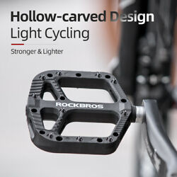ROCKBROS Mountain Bike Pedals Nylon Composite Bearing 9 16quot; MTB Bicycle Pedals $22.99