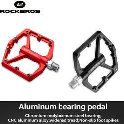 ROCKBROS Bicycle Platform Flat Pedals MTB Bike Pedals Cycling Pedals 9 16 Inch $23.99