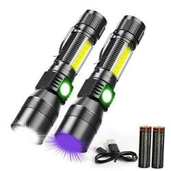 UV Flashlight Rechargeable Magnetic Flashlight with Blacklight 3 in 1 2 $35.23