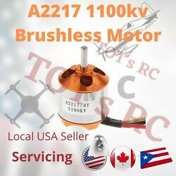 A2217 1100KV Brushless Motor for RC Plane Fixed Wing UAV 10#x27;#x27; Prop 1050 drone $13.49