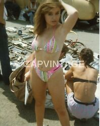 Vintage Color 1980#x27;s Girl In Bikini Curvy Hips Sexy Model Pinup Photo #732 $4.99