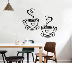 PVC COFFE CUP Kitchen WALL STICKER Decal Art Home decal GBP 2.29