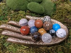 Mini Crystal Balls Natural Gemstone Spheres 20mm Marbles Polished Orbs Assorted $6.00