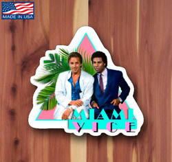 Miami Vice Crockett and Tubbs Vintage decal sticker 4quot; $4.00