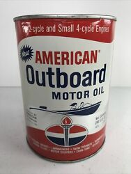 Vintage American Outboard Motor Oil Round Quart Never Opened $65.00