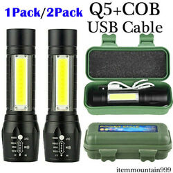 900000LM LED Flashlight Tactical Light Super Bright Torch USB Rechargeable COB $10.78