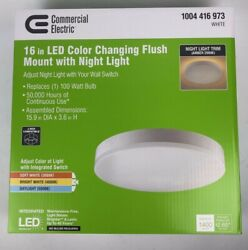 1004 416 973 COMMERCIAL ELECTRIC 16quot; LED Color Changing Flush Mount Night Light