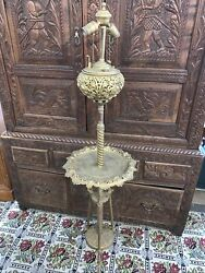 Bradley amp; Hubbard Ornate Brass Floor Piano Lamp Electrified 1876 Adjustable $799.99