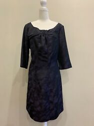 Table Eight purple and Black cocktail dress size 14 3 4 sleeve AU $28.00
