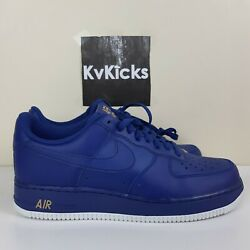 NEW Nike Men#x27;s Air Force 1 #x27;07 Mens Size 9.5 Deep Royal Blue Shoes AA4083 402 $199.99