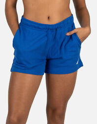 Nike WOMEN SPORTSWEAR CLUB FLEECE SHORTS BLUE WHITE CJ3924 480 $34.99