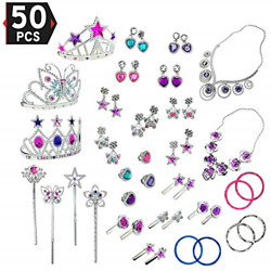 Liberty Imports Princess Jewelry Dress Up Accessories Toy Playset for Girls 50