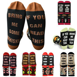 Unisex Men Women Novelty Funny Letter Printed Socks Casual Sport Colorful $8.03