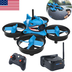 Blue Shark FPV Racing Drone with 5.8G 40CH 1000TVL Camera Goggles RC Quadcopter $85.49