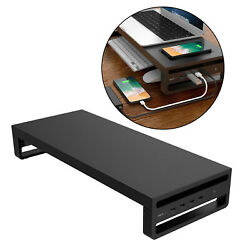 Metal Computer Monitor Desk Stand Riser Support Organizer with 4 USB Ports $54.00