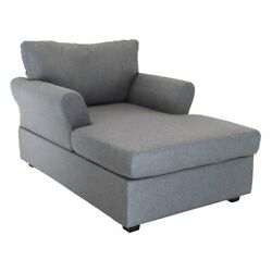 Grey Chaise Lounge Chair for Modern Living Room Grey Linen Sleeper Chair $269.99