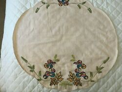 ARTS amp; CRAFTS EMBROIDERED TABLECOVER $45.00