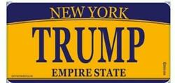 New York City Novelty TRUMP lettering License plate decorative for car or truck $5.95