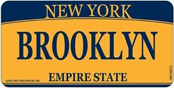 New York City Novelty Brooklyn lettering License plate decorative for car or tr $5.95