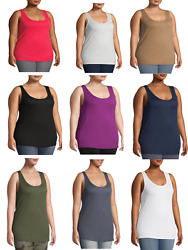 NEW TERRA amp; SKY WOMENS SUPER SOFT LONG LENGTH FIT LAYERING TANK TOP PLUS SIZES $11.04