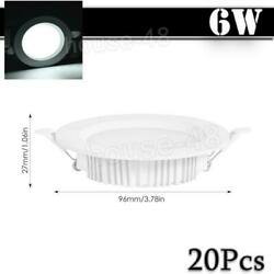 20x 6W LED Panel Light Cool White Recessed Round Ceiling Lamp Kitchen Fixtures $51.69