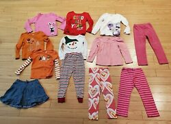 Girls Size 5 Outfit Clothes Lot Of 12 Shirts Pants 1 Size 6 Jean Skirt Clean VG $29.99