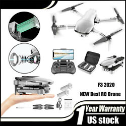 Professional F3 Drones GPS 5G WiFi FPV with 4K 1080P HD Wide Angle Camera Foldab $127.59