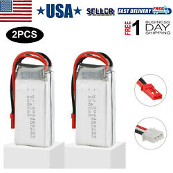 2Pcs 7.4V 1500mAh Lipo Battery with JST Plug for RC FPV Drone Car Truck Truggy $18.02