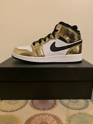 Nike Air Jordan 1 MID GOLD Brand New Sz 5.5Y $119.00