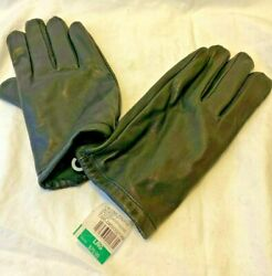 Calvin Klein men#x27;s Black Leather Touchscreen Gloves size Large Driving glove New $33.98