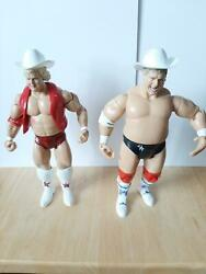 JAKKS WWE 3 different DUSTY RHODES w vest 2 cowboy hats knee pads $35.00