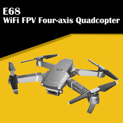 E68 Drone HD Wide Angle Camera FPV Video Recording Quadcopter Foldable RC Drone $38.75