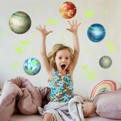 Stars Planets Wall Bedroom Home Decor Art Decals Fluorescent Stickers $13.32