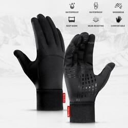 Winter Cycling Gloves Men amp; Women Keep Warm Touch Screen Windproof Cold Weather $10.99