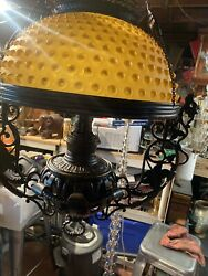 Rare Antique Bradley And Hubbard Cast Iron Dragon Oil Lamp electrified $999.99