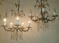 Stunning pair of French antique chandeliers GBP 725.00