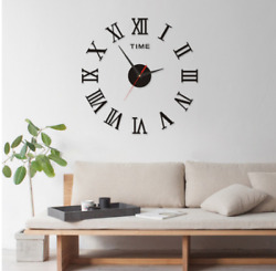 Living Room Home DIY Wall Clock Set Decor Wall Stickers Electronic Clock Watches $9.99