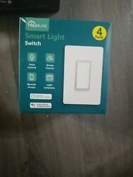 Smart Light Switch Treatlife 1Way Smart Switch 4 Pack Smart Home Light Works