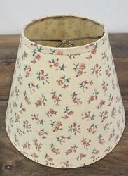 Vintage Fabric Boudior Lamp Shades Pair Clip on Floral Pink Green Yellow Back $15.99