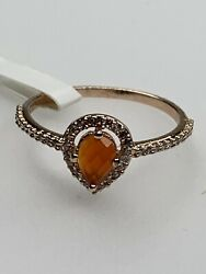 Ring Bomb Party Red Onyx amp; White Topaz Ring Size 7. On A Rose Gold Band. E258 $39.99