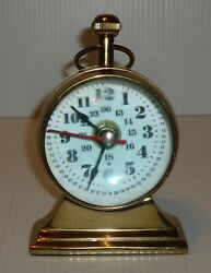 Vintage Marshall brass desk mantle clock Made in Italy $25.00
